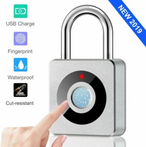 Smart Waterproof Fingerprint Padlock by CCsky