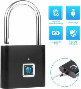 Waterproof Fingerprint Padlock by Towode