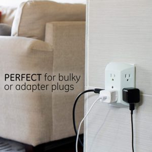 GE 6 Outlet Wall Plug Adapter