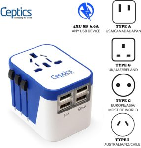 Universal Travel Adapter Plug World Power Ceptics